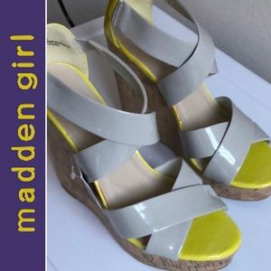 🆕KIWII Neon Cork Platform Wedge Sandal MaddenGirl
